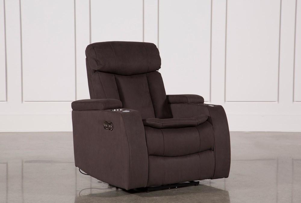 Celebrity Chocolate Home Theater Recliner W/Power Headrest