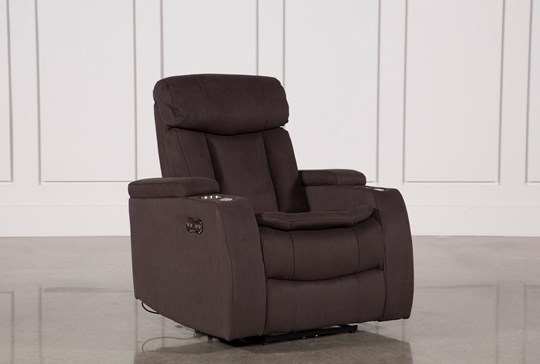 Celebrity Chocolate Home Theater Recliner W/Power Headrest