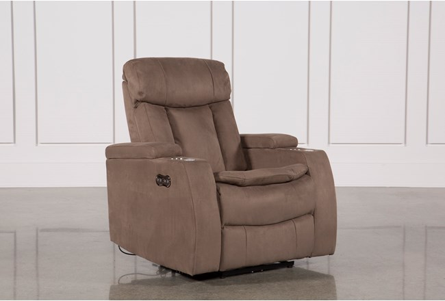 Celebrity Taupe Home Theater Recliner W/Power Headrest - 360