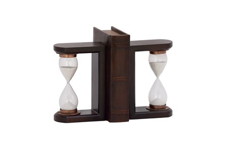 7 Inch Wood Timer Bookend - Main
