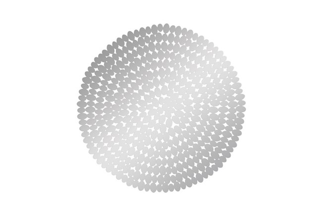 31 Inch Round Steel Wall Decor - 360