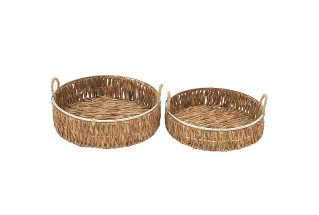 2 Piece Set Seagrass Baskets - 360