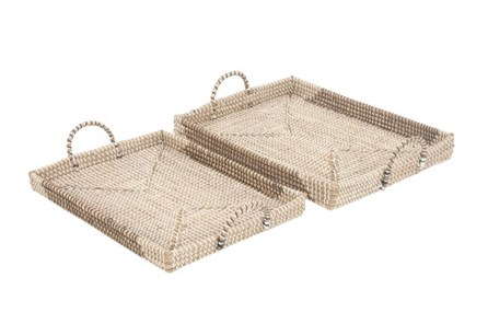 2 Piece Set Seagrass Trays - Main