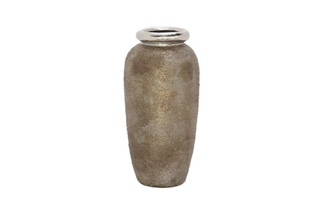 16 Inch Metallic & Stone Finish Vase - Main