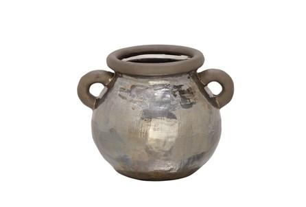 10 Inch Metallic Hammered Pot
