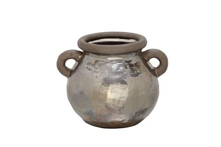 10 Inch Metallic Hammered Pot - Main