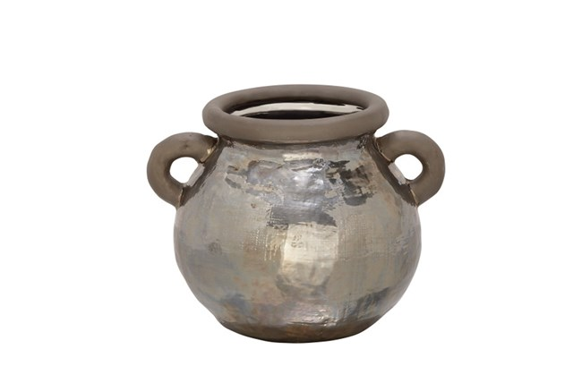 10 Inch Metallic Hammered Pot - 360