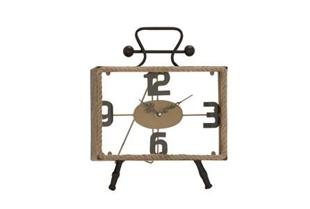 13 Inch Iron & Rope Clock