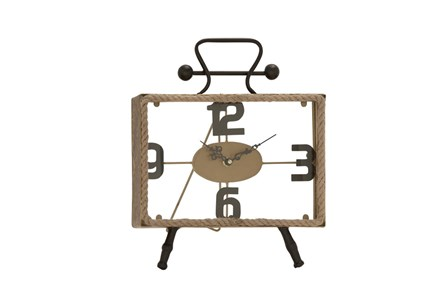 13 Inch Iron & Rope Clock - Main