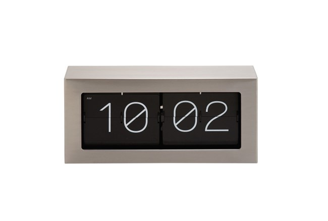 7 Inch Steel Flip Clock - 360