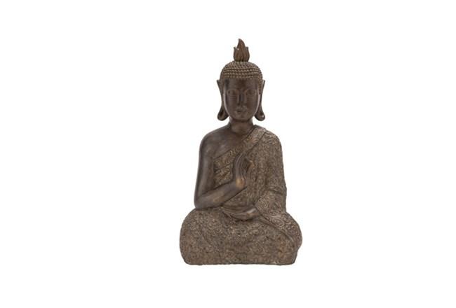 21 Inch Resin Brown Buddha - 360
