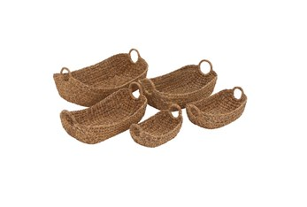 5 Piece Set Seargrass Baskets