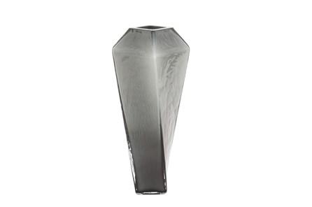 14 Inch Black Glass Vase - Main