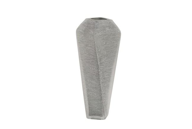 14 Inch Grey Glass Vase - 360