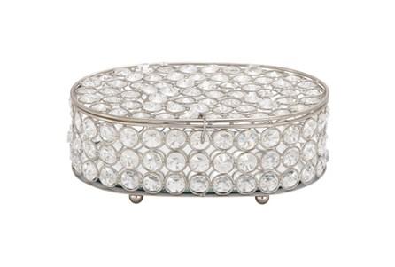3 Inch Oval Glam Jewelry Box