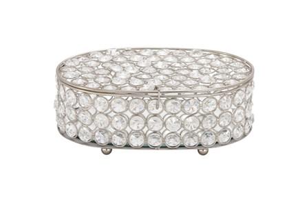 3 Inch Oval Glam Jewelry Box - Main