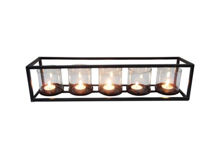 5 Votive Metal And Glass Candleholder - Main