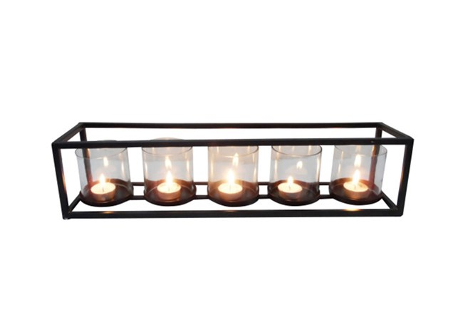5 Votive Metal And Glass Candleholder - 360