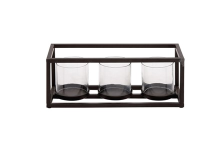 3 Votive Metal And Glass Candleholder - Main