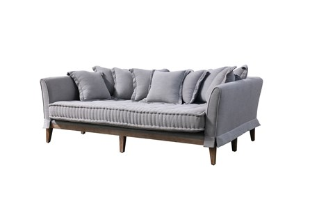 Pewter Linen Daybed Sofa - Main