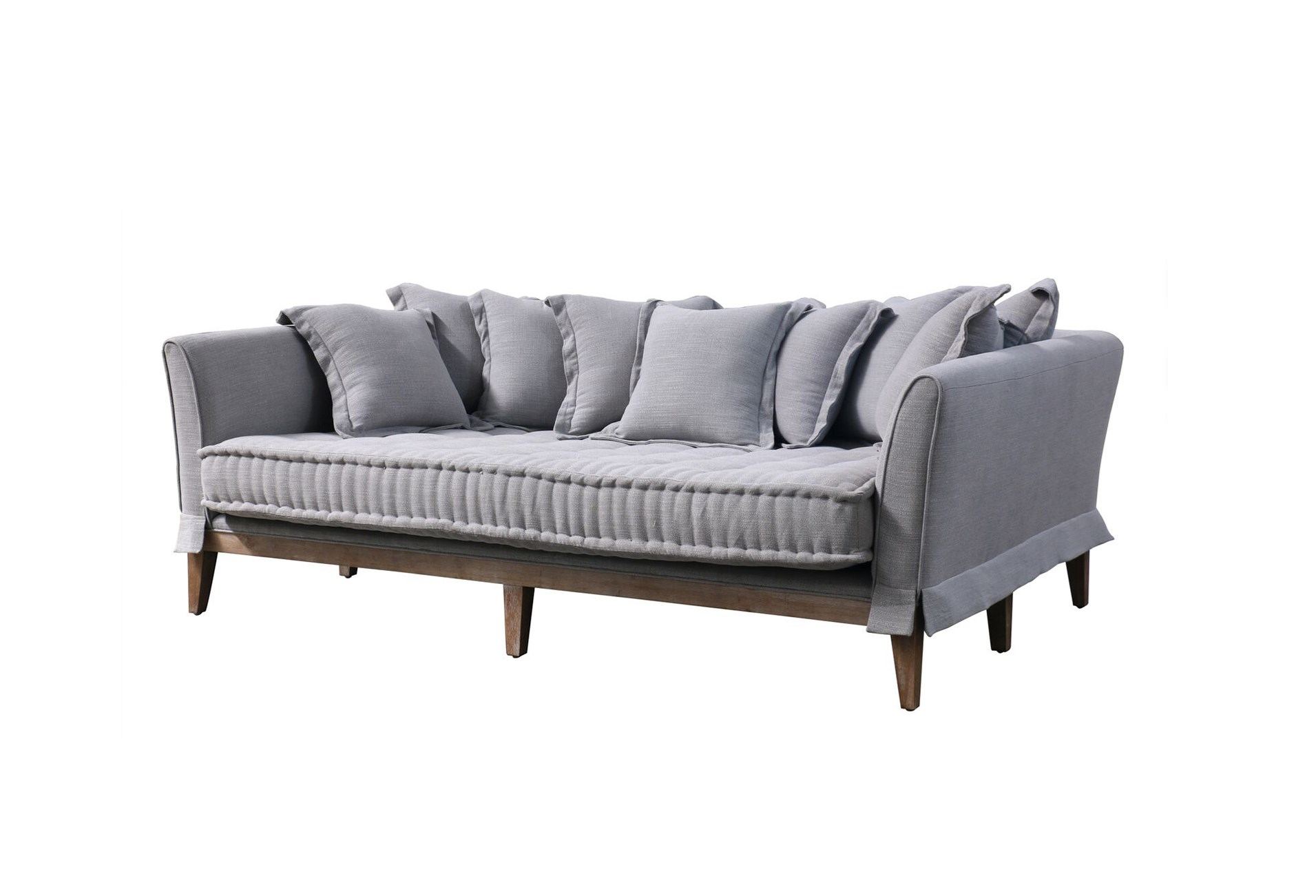 daybed sofa. Pewter Linen Daybed Sofa - 360 Elements S