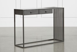 Gunmetal Marble & Iron Console Table