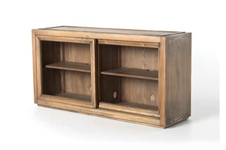 Oak & Brass Stacking Media Console