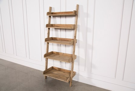 Bleached Pine Leaning Bookcase