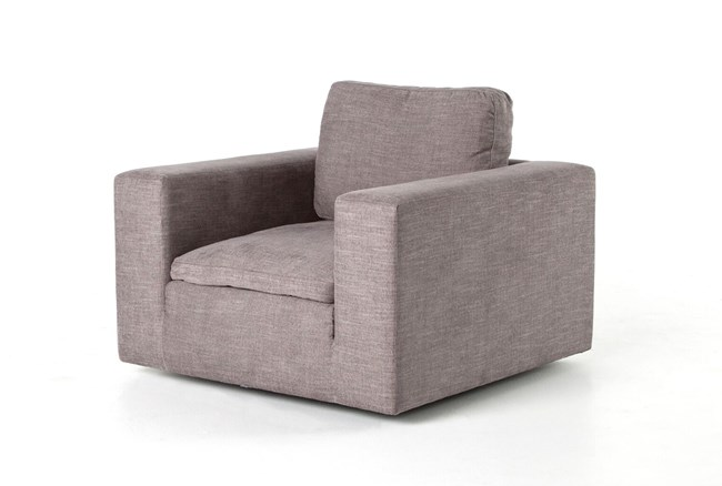 Harbor Grey Swivel Accent Chair - 360