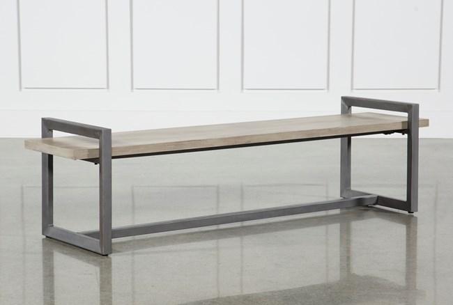 Salvage Grey & Gunmetal 76 Inch Large Bench - 360