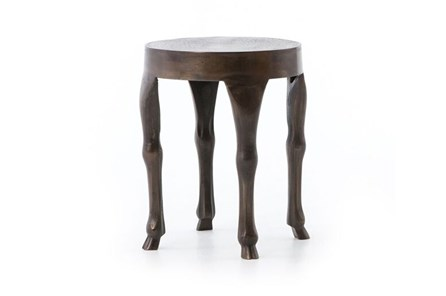 Antique Rust Leg End Table - Main