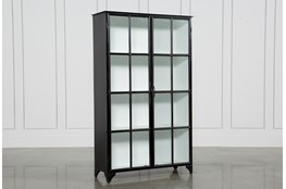 Satin Black & Painted White Cabinet
