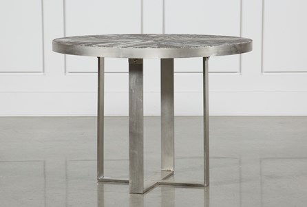 Aged Brass Bistro Table