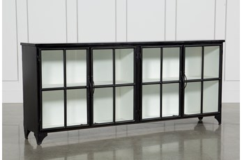 Satin Black & Painted White Sideboard