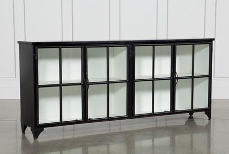 Satin Black & Painted White Sideboard