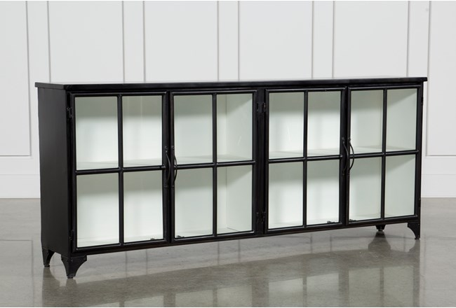 Satin Black & Painted White Sideboard - 360