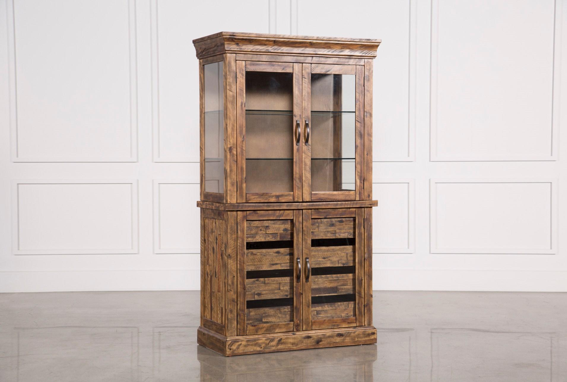 Partridge Glass Door Curio Cabinet Living Spaces