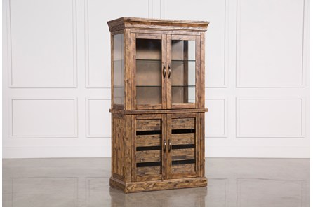 Partridge Glass Door Curio Cabinet