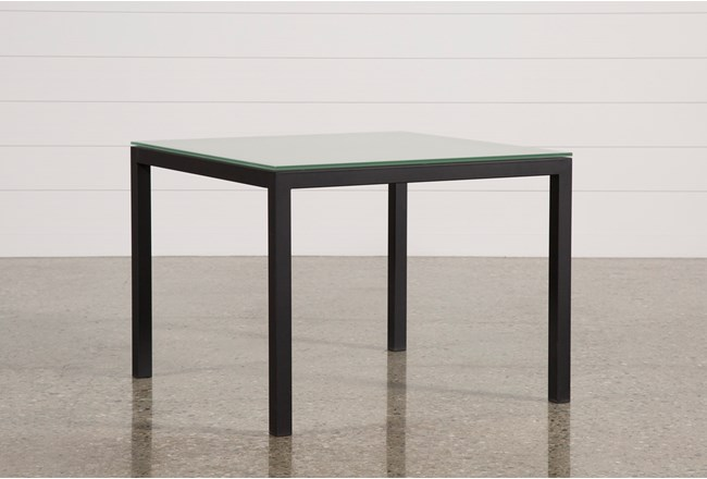 Ina matte black 40 inch square dining table wfrosted glass living ina matte black 40 inch square dining table wfrosted glass 360 watchthetrailerfo