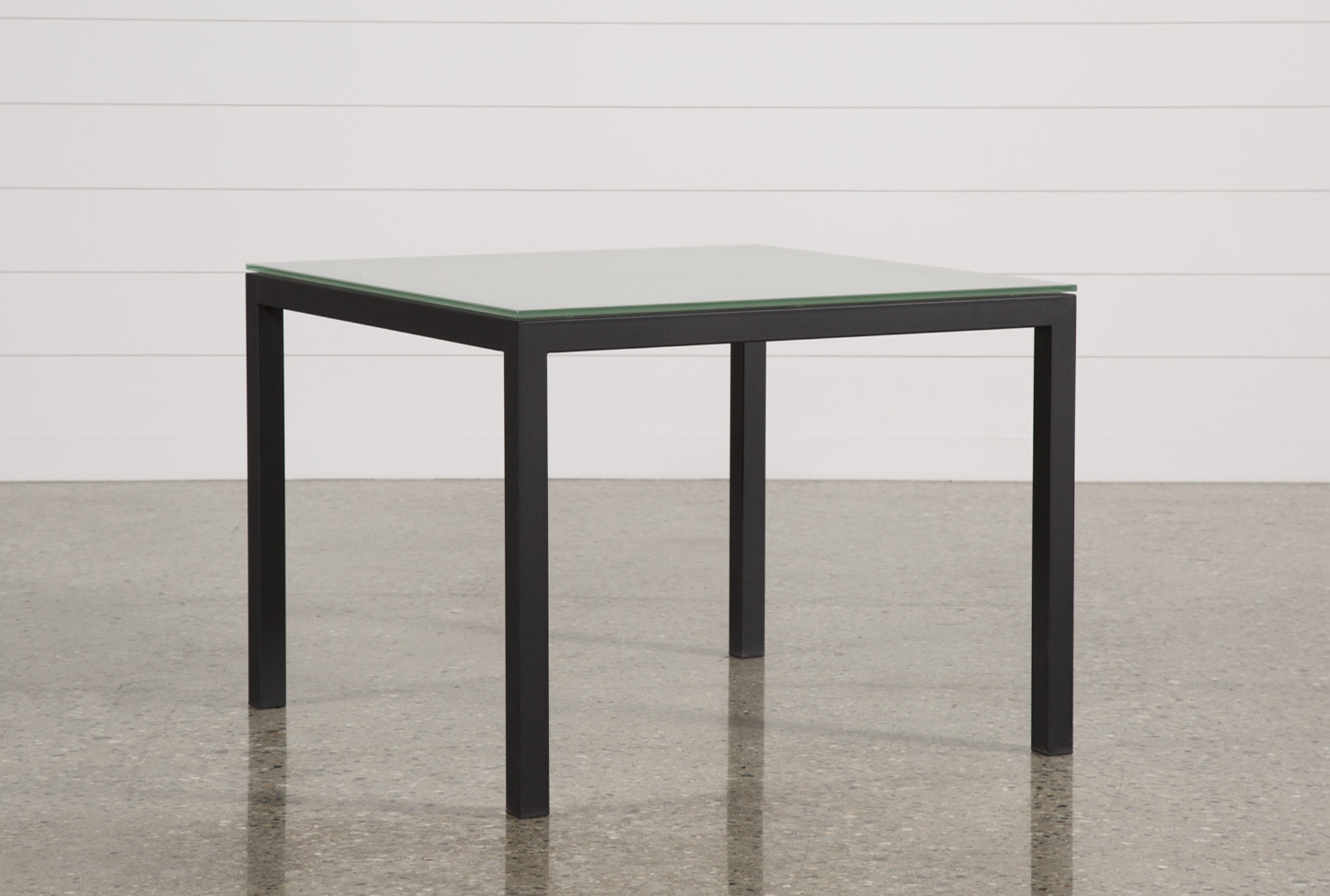 Merveilleux Ina Matte Black 40 Inch Square Dining Table W/Frosted Glass   360