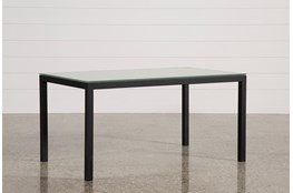 Ina Matte Black 60 Inch Dining Table W/Frosted Glass