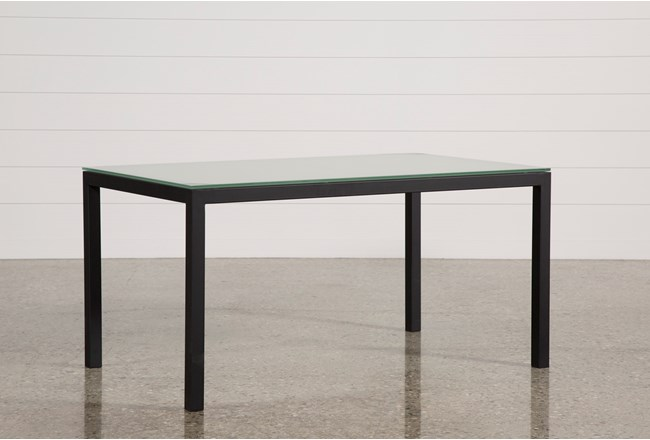 Ina Matte Black 60 Inch Dining Table W/Frosted Glass - 360