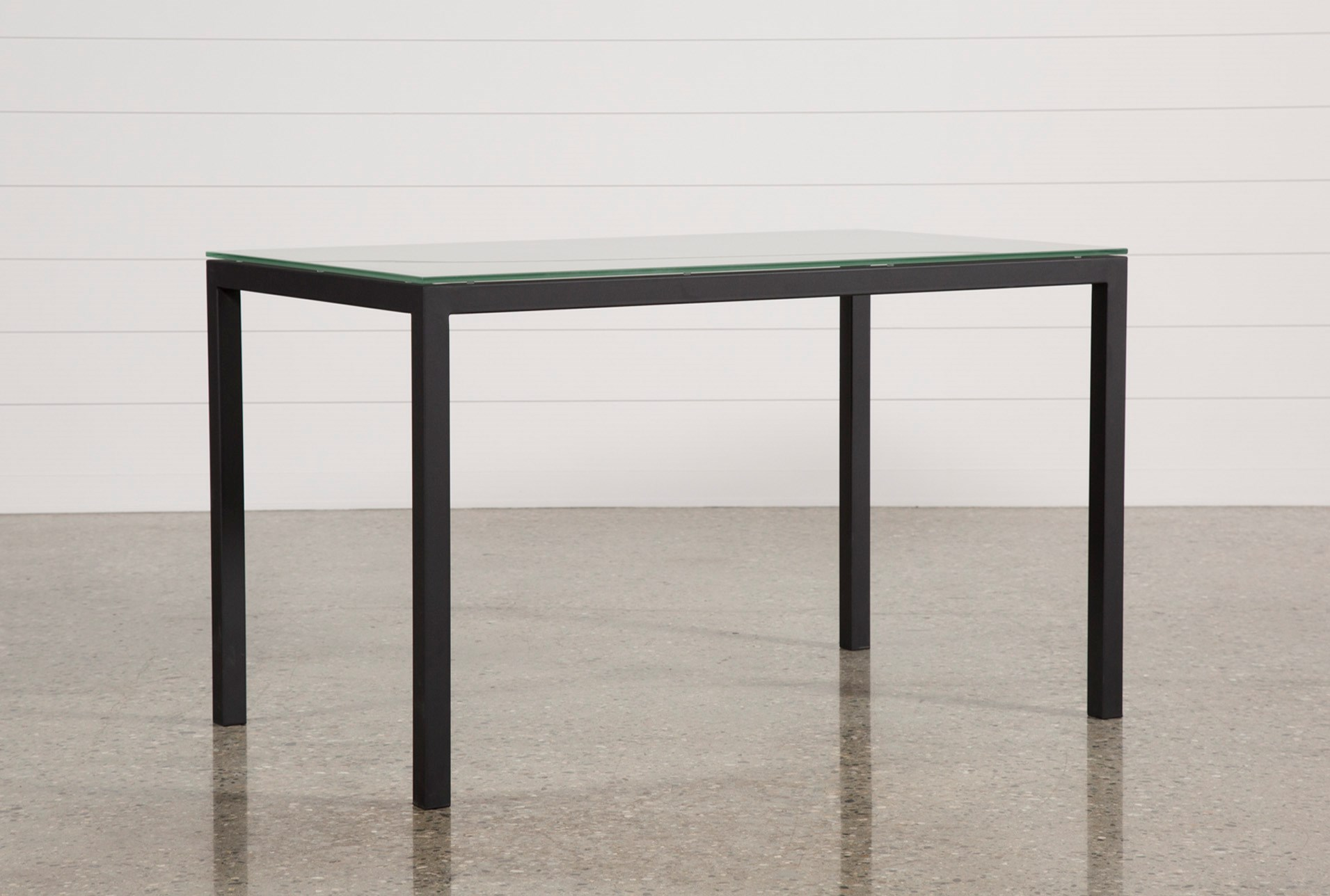 Ina Matte Black 60 Inch Counter Table W Frosted Gl Qty 1 Has Been Successfully Added To Your Cart