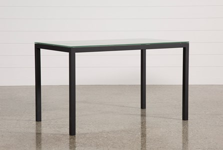 Ina Matte Black 60 Inch Counter Table W/Frosted Glass