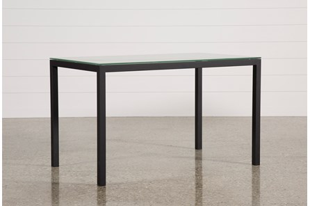Ina Matte Black 60 Inch Counter Table W/Frosted Glass - Main