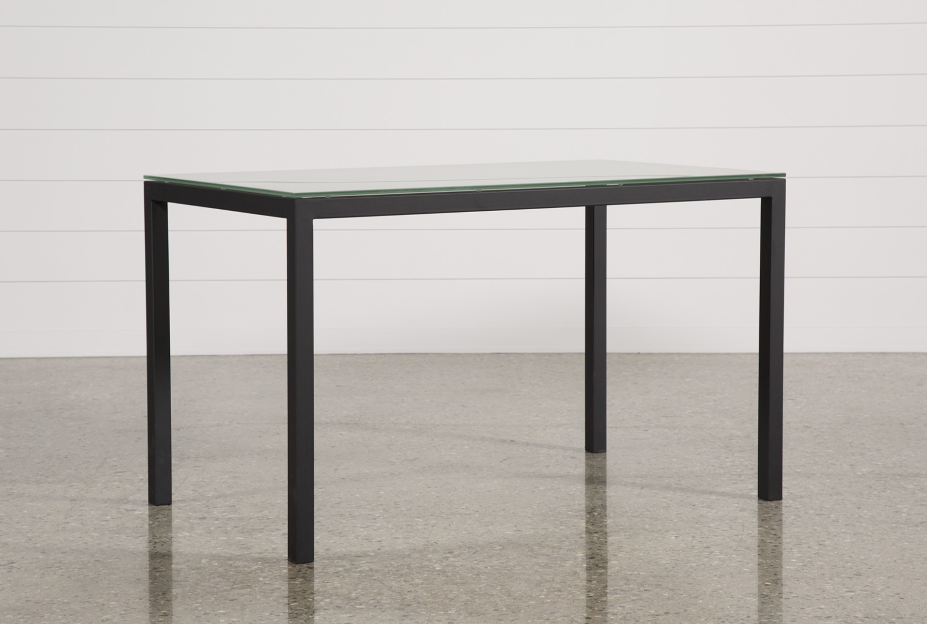 Ina Matte Black 60 Inch Counter Table W/Frosted Glass (Qty: 1) Has Been  Successfully Added To Your Cart.
