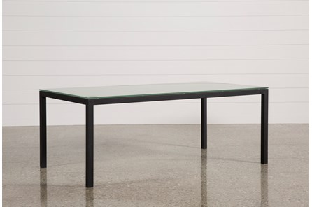 Ina Matte Black 78 Inch Dining Table W/Frosted Glass - Main