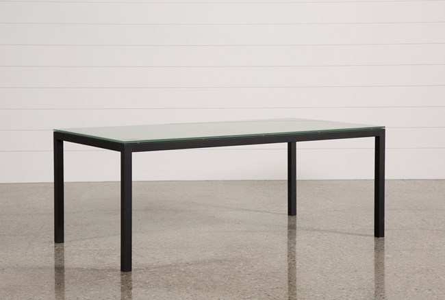 Ina Matte Black 78 Inch Dining Table W/Frosted Glass - 360