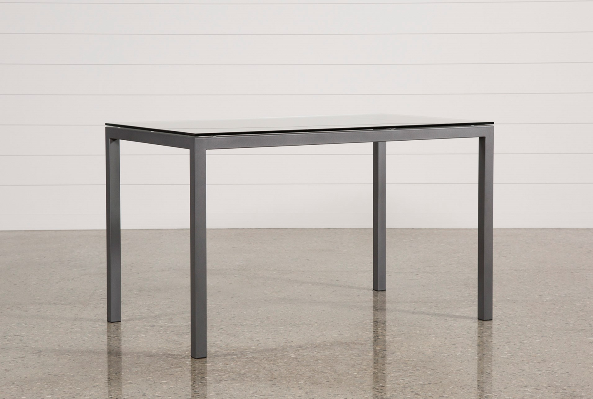 Ina Pewter Inch Counter Table WClear Glass Living Spaces - Pewter glass coffee table