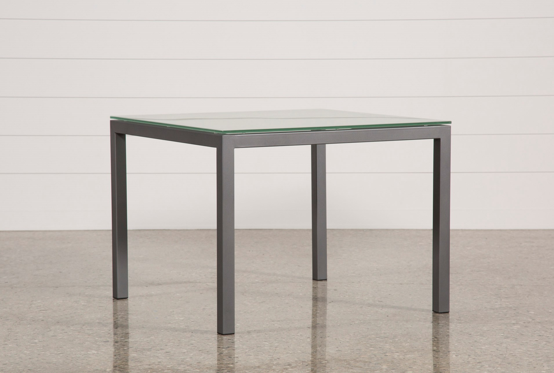 Ina Pewter 40 Inch Square Dining Table W Frosted Gl Qty 1 Has Been Successfully Added To Your Cart